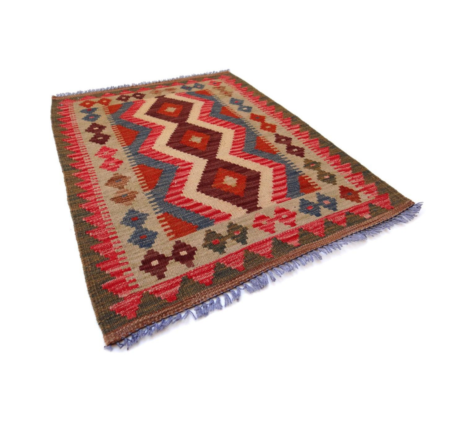 Kilim Afghan Traditionnel 75 x 60 cm