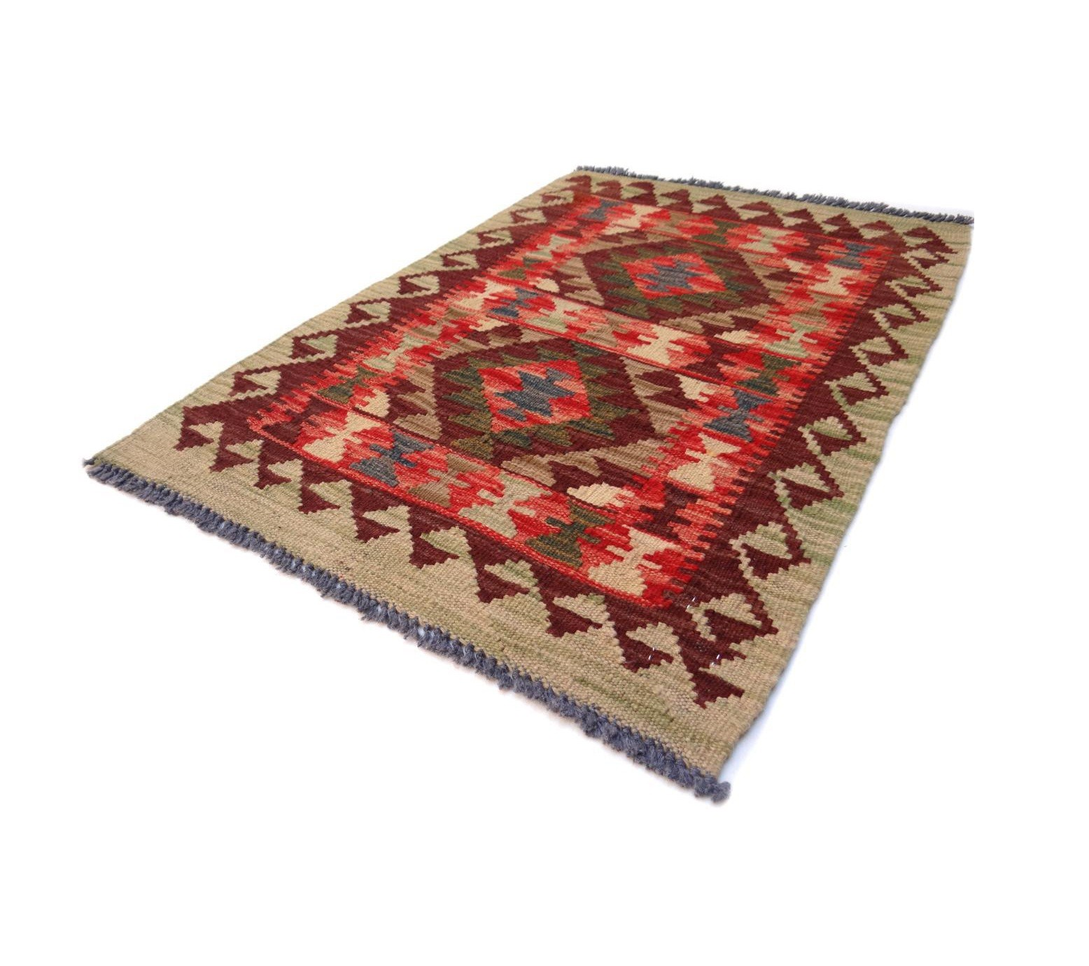 Kilim Afghan Traditionnel 85 x 58 cm