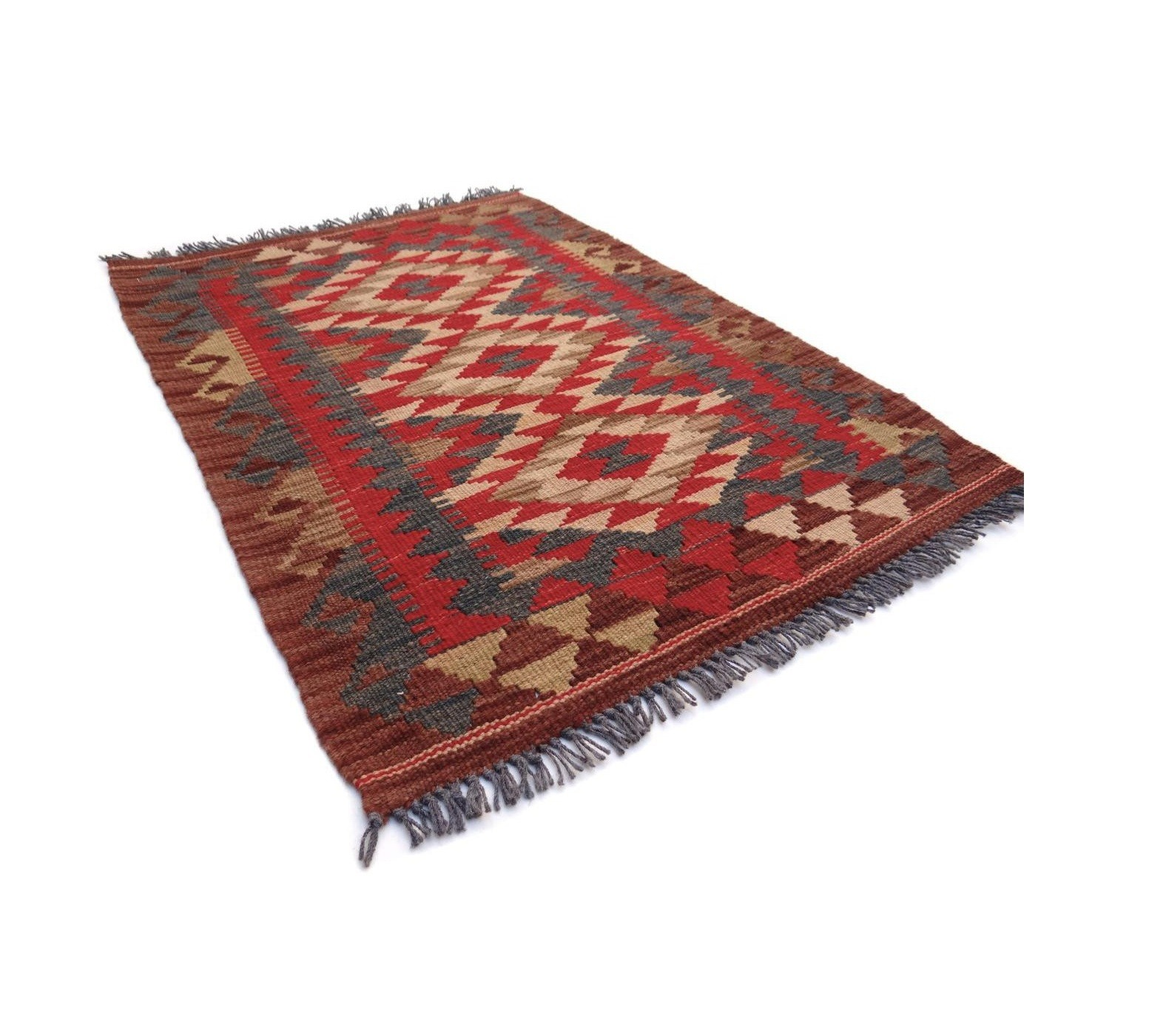 Kilim Afghan Traditionnel 89 x 63 cm
