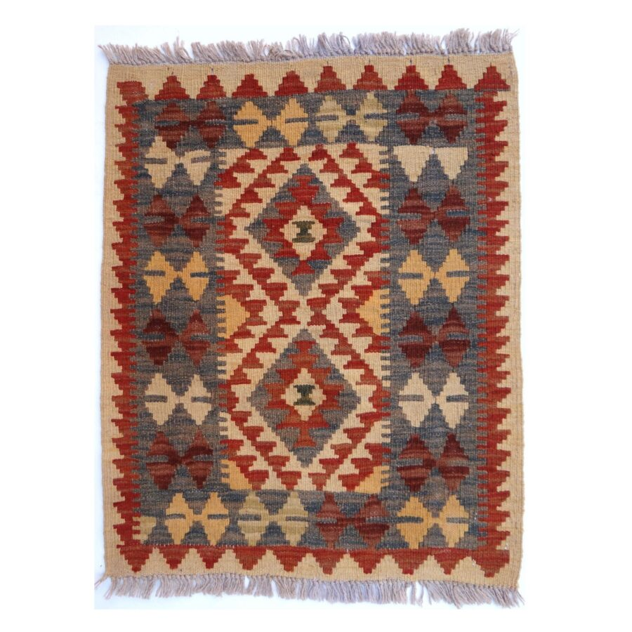 Kilim Afghan Traditionnel 80 x 61 cm