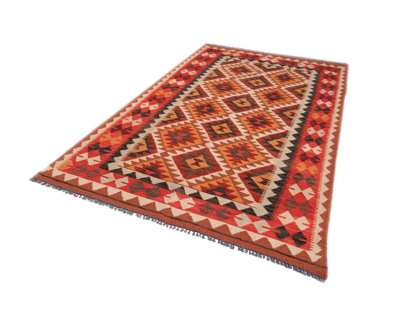 Kilim Afghan Traditionnel 209 x 126 cm