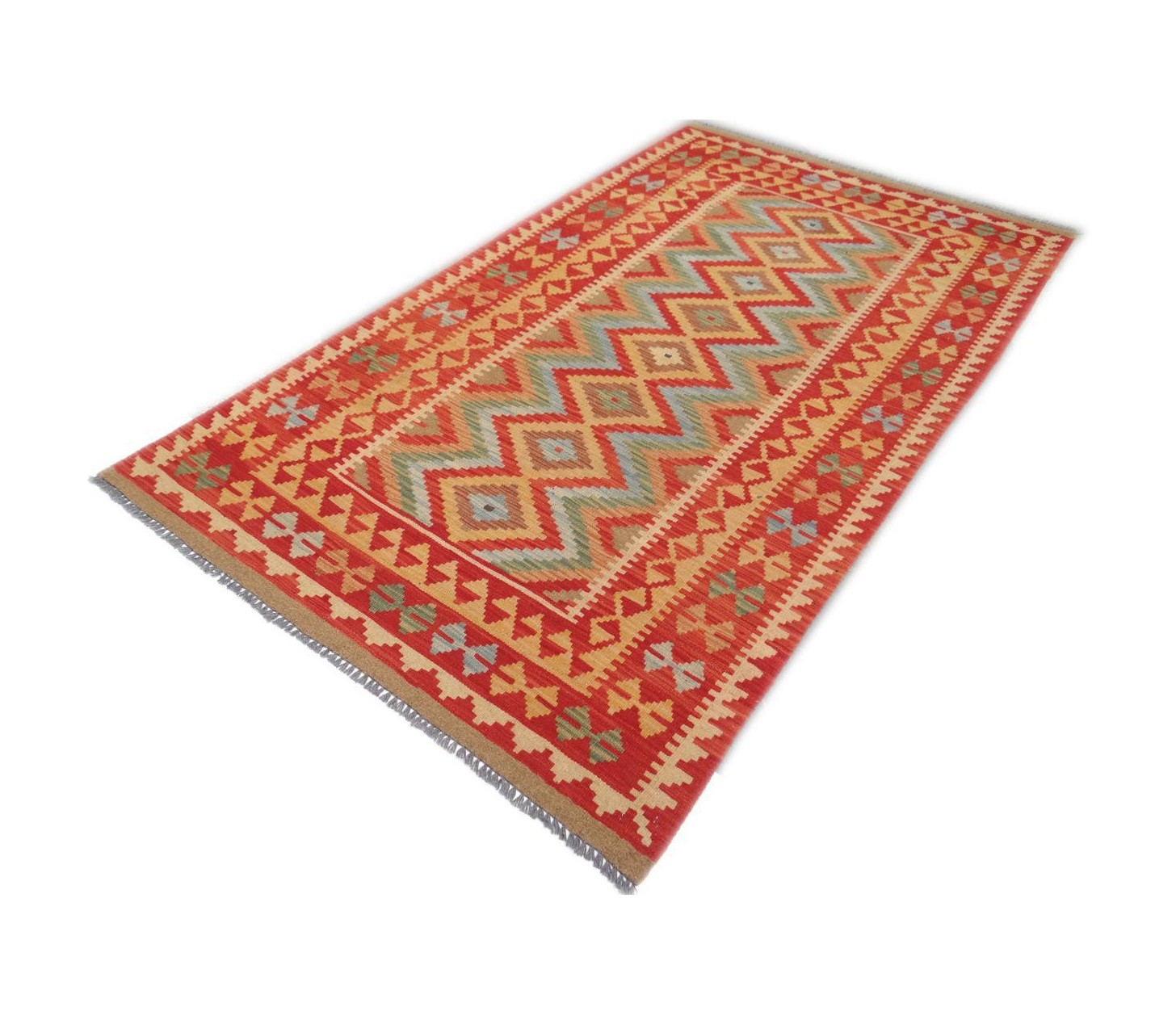 Kilim Afghan Traditionnel 207 x 121 cm
