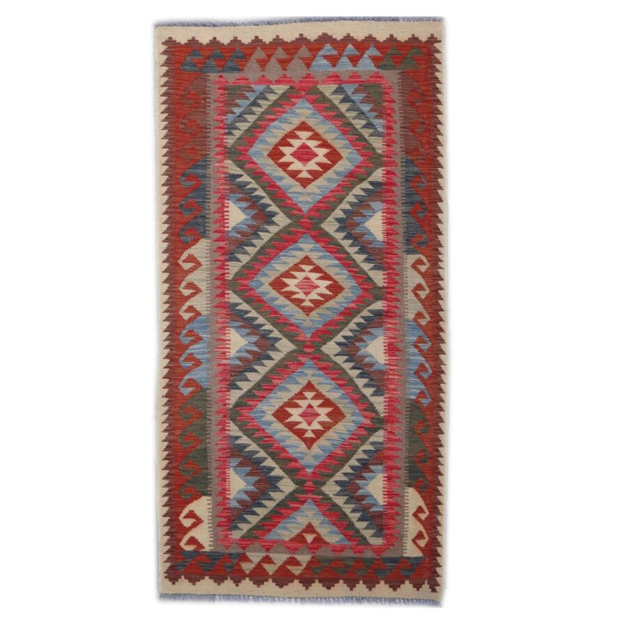 Kilim Afghan Traditionnel 193 x 99 cm